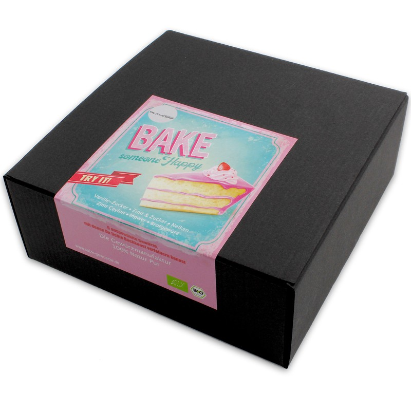 "Geschenkbox  ""Bake someone happy"""